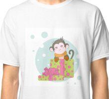 Merry Christmas monkey Classic T-Shirt