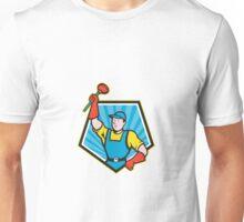 Super Plumber Wielding Plunger Pentagon Cartoon Unisex T-Shirt