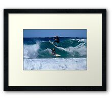 Close Encounters Of The Surfing Kind Framed Print