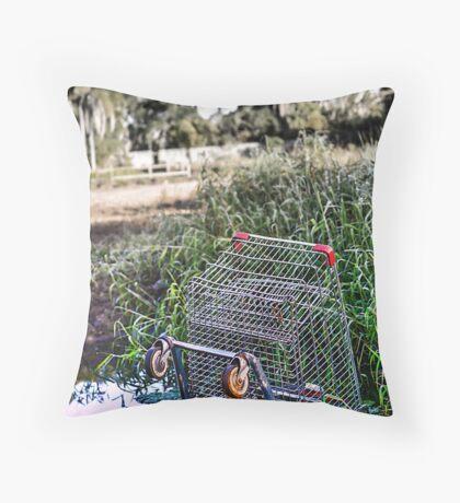 Suburban Mishap Throw Pillow