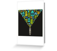 Pencil the house Greeting Card
