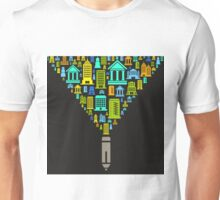 Pencil the house Unisex T-Shirt