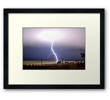 """Blinded by the light"" Framed Print"