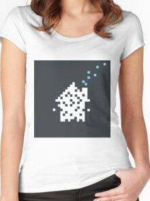 Pixel the house Women's Fitted Scoop T-Shirt