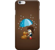 Little girl and cute puppy iPhone Case/Skin