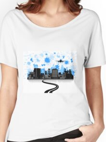Road to a city Women's Relaxed Fit T-Shirt