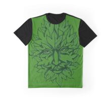 Man in th Green Graphic T-Shirt