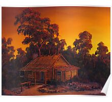 The Pioneers Log Cabin Poster