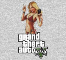 Grand Theft auto 5 Babe shirt by Bergmandesign