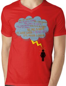 life makes ECHOES. (stick girl.) Mens V-Neck T-Shirt