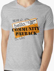community BLOWBACK. Mens V-Neck T-Shirt