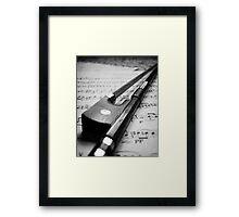 Violin Bow Framed Print