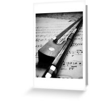Violin Bow Greeting Card