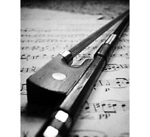 Violin Bow Photographic Print