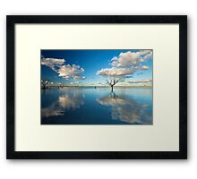 Cloud Makers - Lake Pinaroo, NSW Framed Print