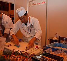 Preparing Sushi at Hyper Japan Earls Court by Keith Larby