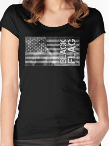 Black Flag Tee Women's Fitted Scoop T-Shirt