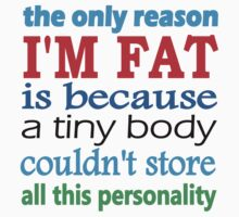 i'm fat because i have a lot of personality by StefanoSimoni