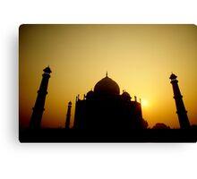 Goodmorning From the Taj Canvas Print
