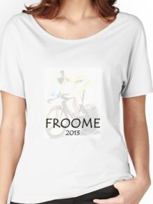 Chris Froome 2013 Women's Relaxed Fit T-Shirt