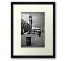 Drums, steeples and festivities Framed Print