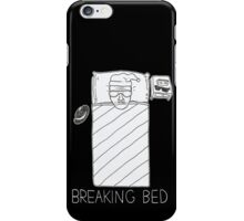 BREAKING BED (4 BLACK) iPhone Case/Skin