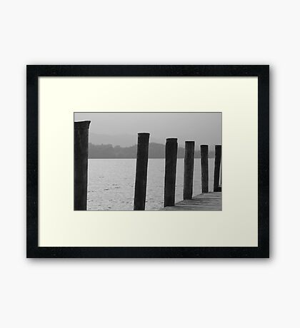 Pier at Brockhole Windermere Framed Print