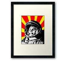 First man in space Framed Print