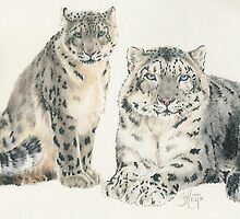 Snow Leopard by BarbBarcikKeith
