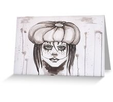 The Girl Who Laughs Greeting Card