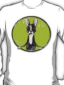 Boston Terrier Retro Pop Out T-Shirt