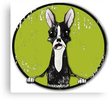 Boston Terrier Retro Pop Out Canvas Print