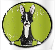 Boston Terrier Retro Pop Out Poster