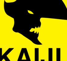 "Kaiju ""Giant Monster"" Warning Sticker"