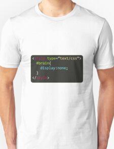 CSS Geek Sticker Unisex T-Shirt