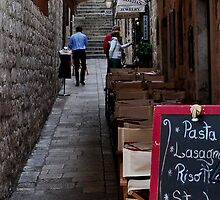 PASTA IN DUBROVNIK (CARD ONLY) by Thomas Barker-Detwiler