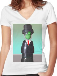 Son of man Women's Fitted V-Neck T-Shirt
