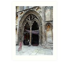 Ely Cathedral, crayoned Art Print