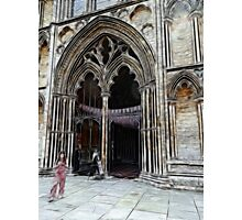 Ely Cathedral, crayoned Photographic Print