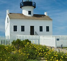 Cabrillo National Monument Lighthouse in San Diego  by Randall Nyhof