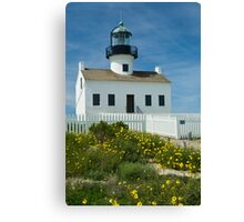 Cabrillo National Monument Lighthouse in San Diego  Canvas Print