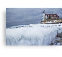 Point Betsie Lighthouse in Winter Canvas Print