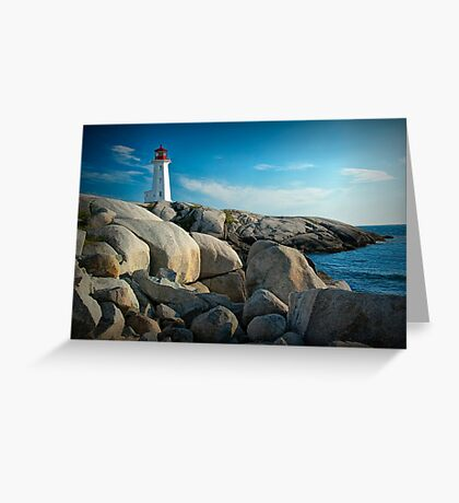 Peggys Cove Lighthouse in Nova Scotia - Number 142 Greeting Card