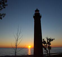 Little Sable Lighthouse at Sunset by Randall Nyhof