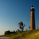 Little Sable Lighthouse by Silver Lake Michigan by Randall Nyhof