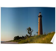 Little Sable Lighthouse by Silver Lake Michigan Poster