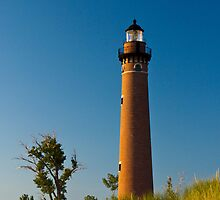 Little Sable Lighthouse on the Dune by Silver Lake Michigan by Randall Nyhof