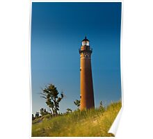Little Sable Lighthouse on the Dune by Silver Lake Michigan Poster