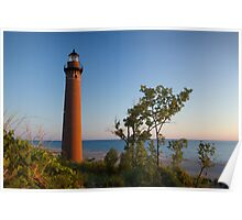 Little Sable Lighthouse by the shore near Silver Lake Michigan Poster