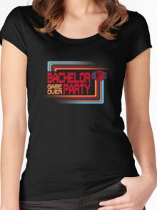 Bachelor Party Game Over Women's Fitted Scoop T-Shirt